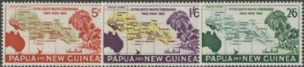 Papua New Guinea SG36-8 South Pacific Commission set of 3